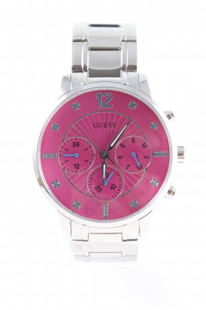 Guess Uhr mit Metallband silberfarben-pink Casual-Look
