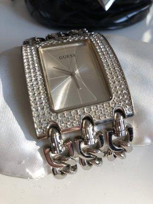 Guess Uhr Silber Glitzer