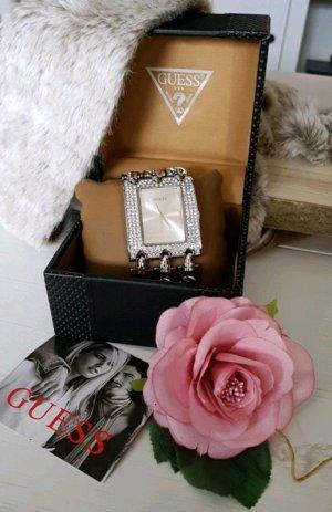 Guess Horloge met metalen riempje zilver