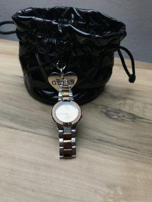 Guess Uhr Silber Roségold