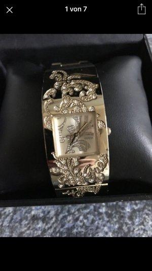 Guess Uhr vergoldet mit Steinen