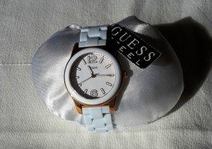 Guess Uhr Weiß Rosé-Gold