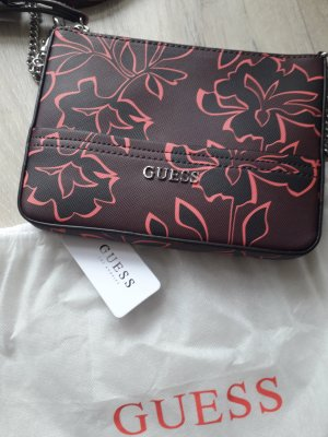 Guess Mini Bag brown red-neon red imitation leather