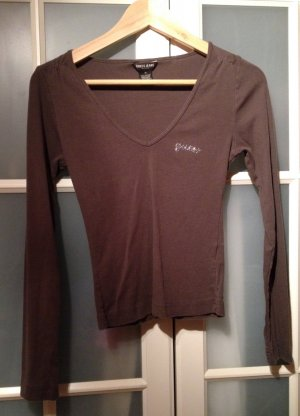 GUESS USA Shirt mit raffiniertem Decollete M Khaki