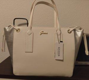 Guess Veles Tote neu tasche handtasche shopper silber weiß