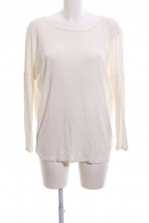 Guess Camisa con cuello caído blanco puro look casual