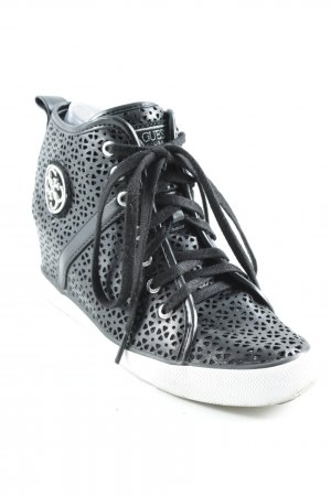 Guess Wedge Sneaker schwarz-weiß Casual-Look