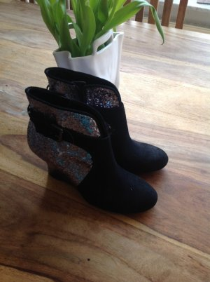 Guess Wedge Stiefelette Glitzer Gr. 38