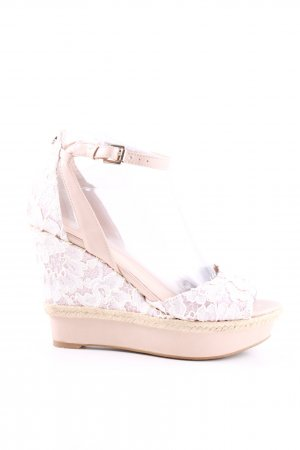 Guess Wedges Sandaletten weiß-nude Mustermix Casual-Look