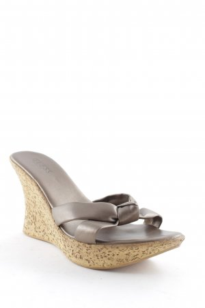 Guess Wedge Sandals bronze-colored-light brown classic style