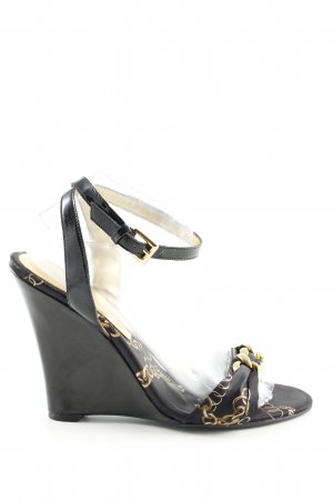 Guess Wedge Sandals black-gold-colored casual look