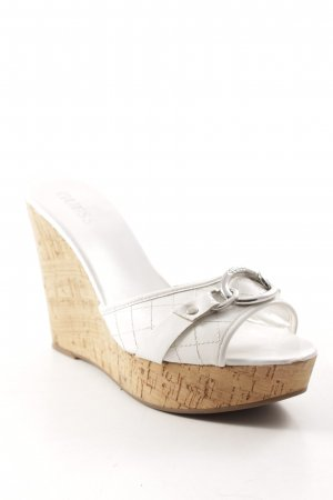 Guess Wedge Sandals white-silver-colored casual look