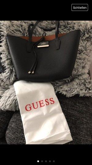 Guess Shopper black-brown synthetic fibre