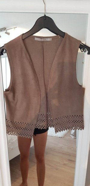 Guess Leather Vest light brown