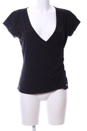 Guess Wikkelshirt zwart casual uitstraling