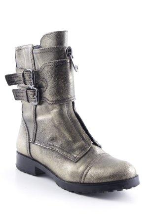 Guess Winter-Stiefeletten schwarz-goldfarben meliert extravaganter Stil