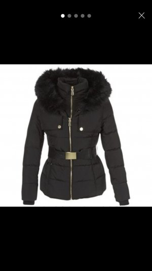 Guess Winter Jacket black-gold-colored