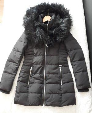 Guess Winterjas zwart-zilver Polyester