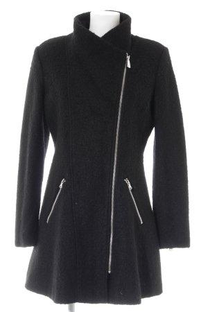 Guess Cappotto in lana nero-argento stile casual