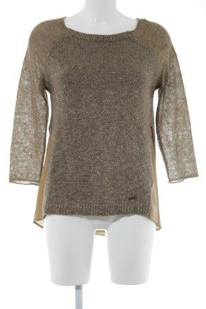 Guess Jersey de lana marrón claro-color oro reluciente