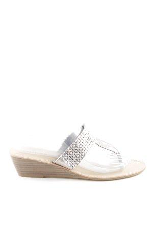 Guess Zehen-Sandaletten silberfarben Casual-Look