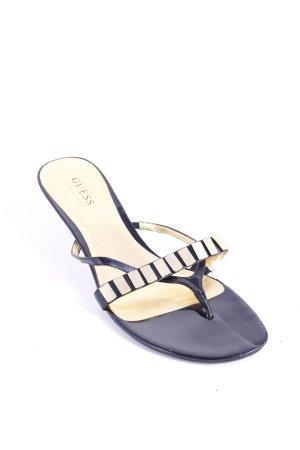 Guess Zehen-Sandaletten schwarz-goldfarben Eleganz-Look