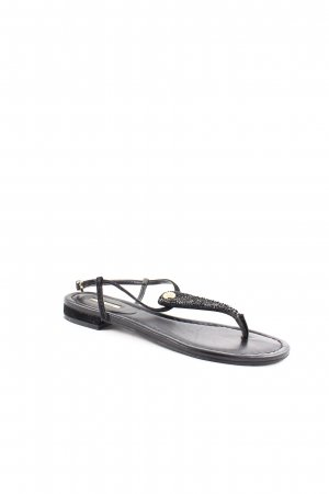 Guess Zehentrenner-Sandalen schwarz Glitzer-Optik