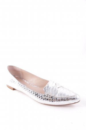 Guglielmo Rotta Slipper silberfarben Metallic-Optik