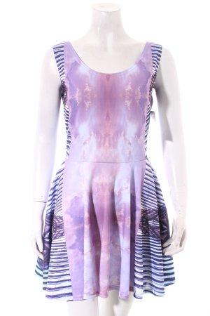 Gugu Gold A-Linien Kleid abstraktes Muster extravaganter Stil