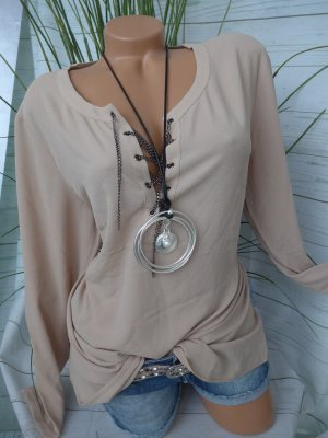 newest 29c3f 9a085 Guido Maria Kretschmer Long Blouse sand brown polyester