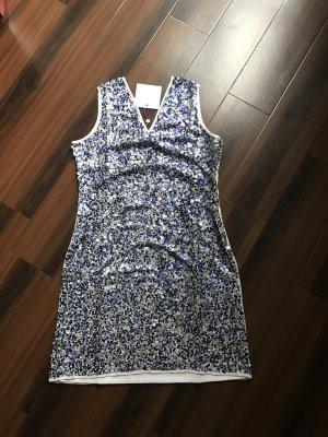 Guido Maria Kretschmer Kleid Gloria,Pailletten,neu,Gr 38 (auch 44), blau/weiß