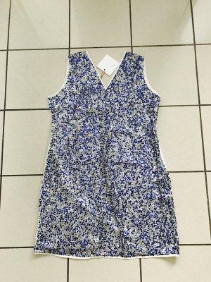 Guido Maria Kretschmer Kleid Gloria,Pailletten,neu,Gr 44 (auch in 38),weiß/blau