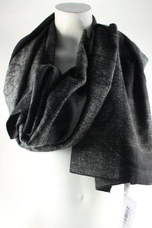 Guido Maria Kretschmer Schal schwarz-grau Monogram-Muster Casual-Look