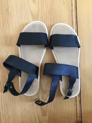Sandalias de tiras negro-crema