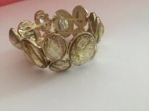 Gummiarmband Reifen gold