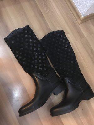 Pierre Cardin Botte en caoutchouc noir
