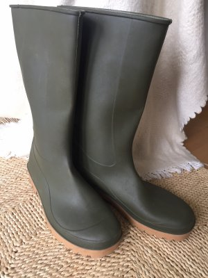 Wellies green grey-light brown