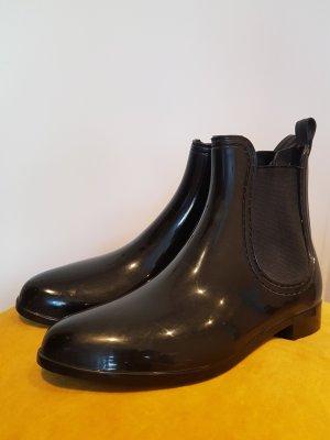 Gummistiefel Halbstiefel Stiefelette in lack schwarz