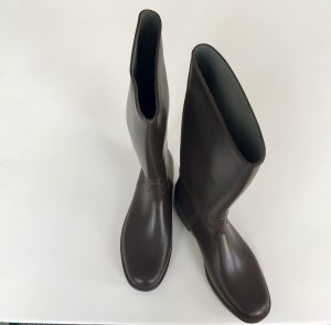 Botas de agua marrón oscuro