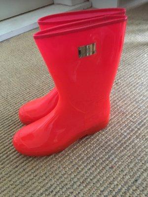 Elisabetta Franchi Wellington laarzen rood kunststof