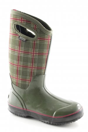 Wellies check pattern Logo application