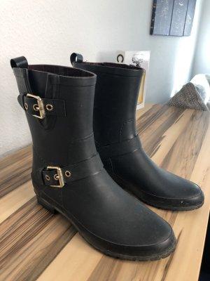 Massimo Dutti Botas de agua negro