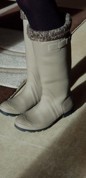 Botas de agua marrón grisáceo-marrón oscuro