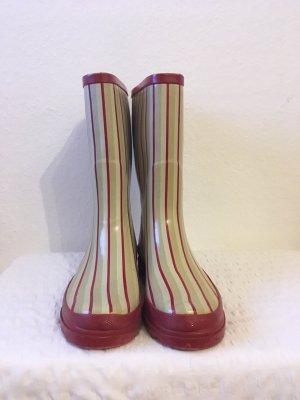 Botas de agua blanco-rojo