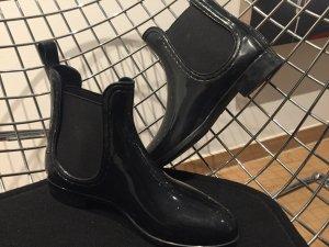 Gummistiefel Rubberboots Londonstyle wie neu 38 schwarz glänzend