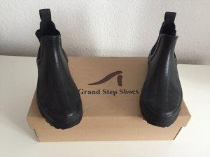 Grand step shoes Botte en caoutchouc noir