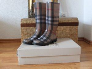 Gummistiefel Stiefel von Burberry beige grau Größe 36
