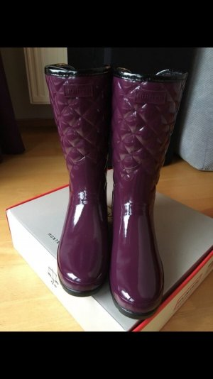 Hunter Botas de agua rojo zarzamora-púrpura