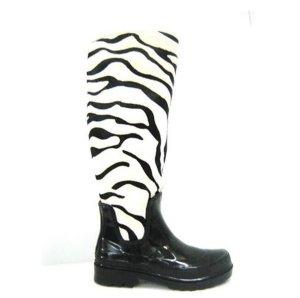 Gummistiefel Zebra-Look