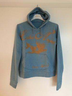 Guru Sweatshirt met capuchon korenblauw-licht Oranje Katoen
